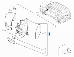 Linker buitenspiegel voor Jeep Renegade