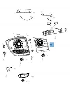 Achterlicht (buitenverlichting, remlicht en achteruitrijlicht) voor Fiat Freemont