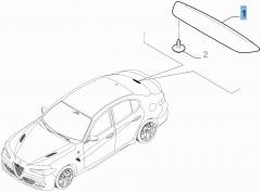 Achterlicht derde remlicht voor Alfa Romeo Giulia