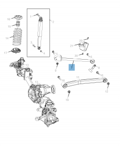 Schommelarm voor voorophanging boven voor Jeep Wrangler