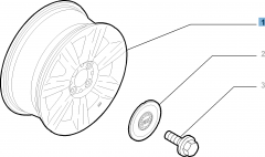 Lichtmetalen velg 6J x 14'' H2 ET 35 voor Fiat en Fiat Professional