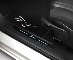 Aluminium instaplijst met opgedrukt logo voor Lancia Ypsilon