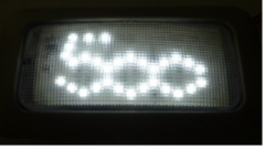 LED-lampen met 500-logo
