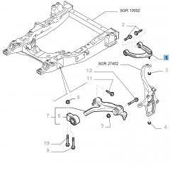 Linker schommelarm voor voorophanging boven voor Alfa Romeo 159