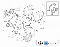 Distributiekit (riem, vaste en verstelbare riemspanner) - 3 stuks