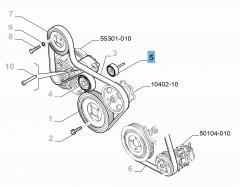 Vaste riemspanner voor Fiat en Fiat Professional